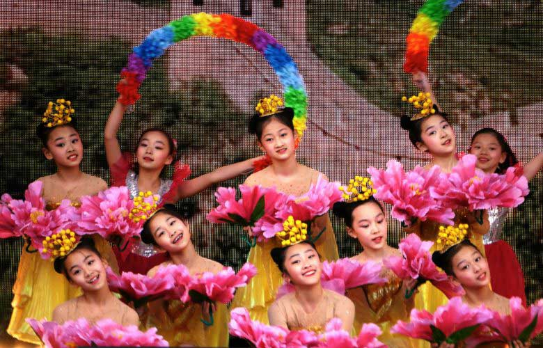 Dancers at the Chinese New Year Celebrations