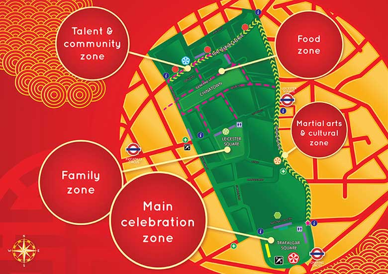 London Chinese New Year Celebrations 2020 Event Map
