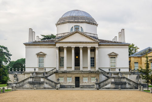 Front facade of Chiswick House