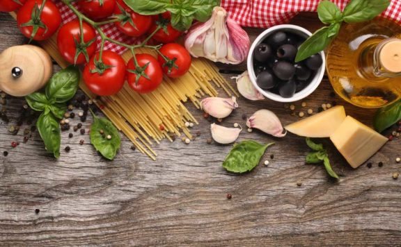 Raw ingredients at Vapiano