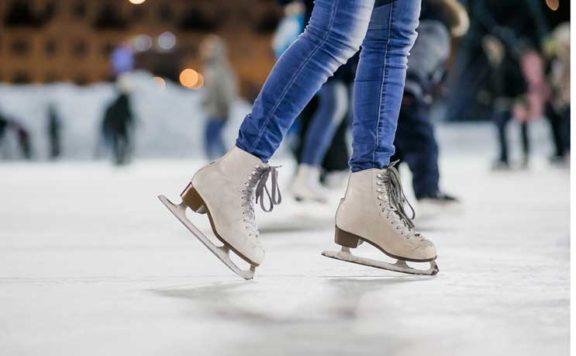 Ice Skating in London at Skylight, Tobacco Docks