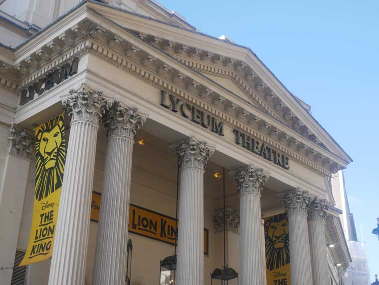 London Musical the Lion King at the Lyceum Theatre