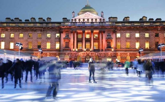 New Year's Eve at Skate Somerset House