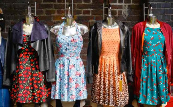Vintage clothes at the Big London Flea
