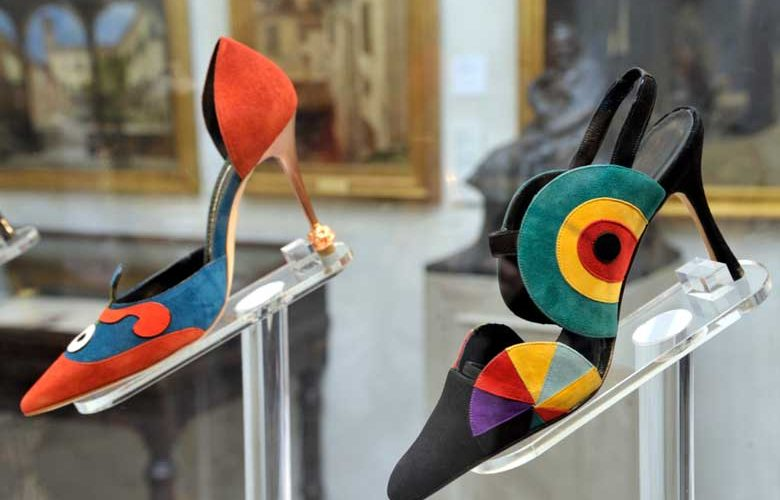 A shoe from the Manolo Blahnik at the Wallace Collection exhibition