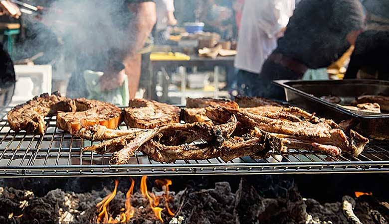 A grill at Meatopia