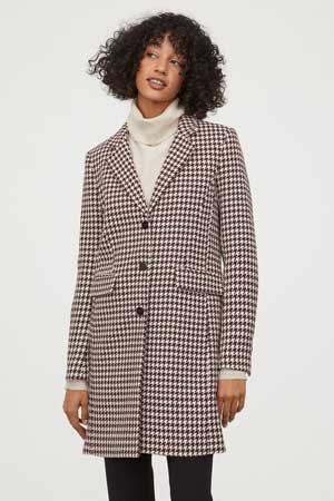 Dogtooth coat at H&M