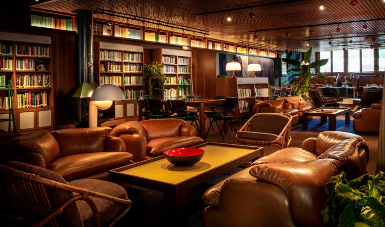 Library Lounge at The Standard King's Cross
