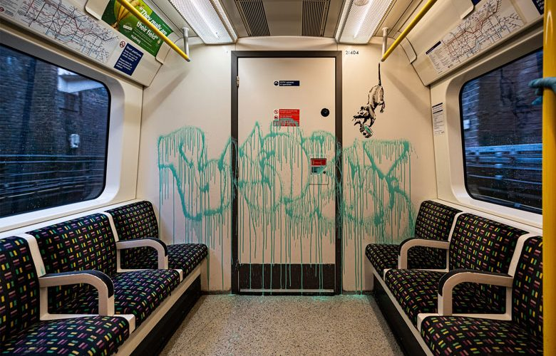 Banksy Artwork on the London Underground