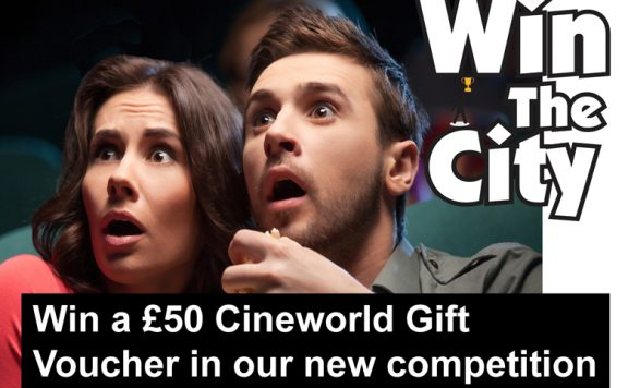 Win a gift voucher for Cineworld