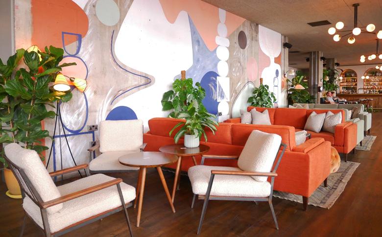 Laura Wickstead murals at the Rondo Restaurant
