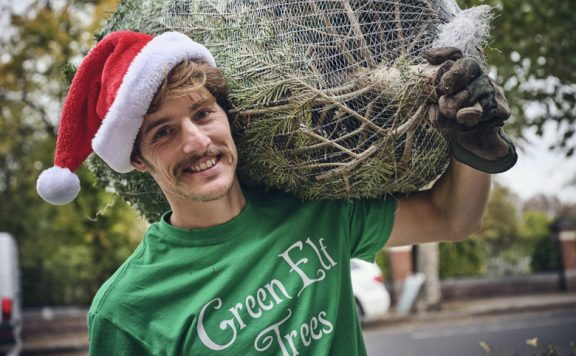 Support an out of work entertainer by buying a Christmas Tree from Green Elf Trees