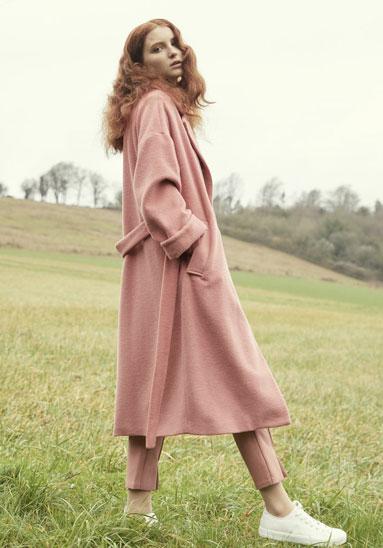Paisie Maple Wool Blend Coat