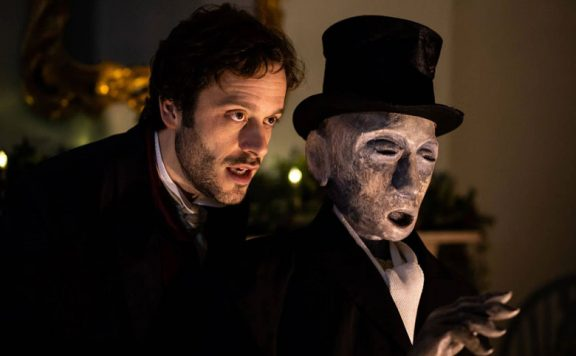 You can watch a one man version of A Christmas Carol shot at Dickens' last surviving home this festive season