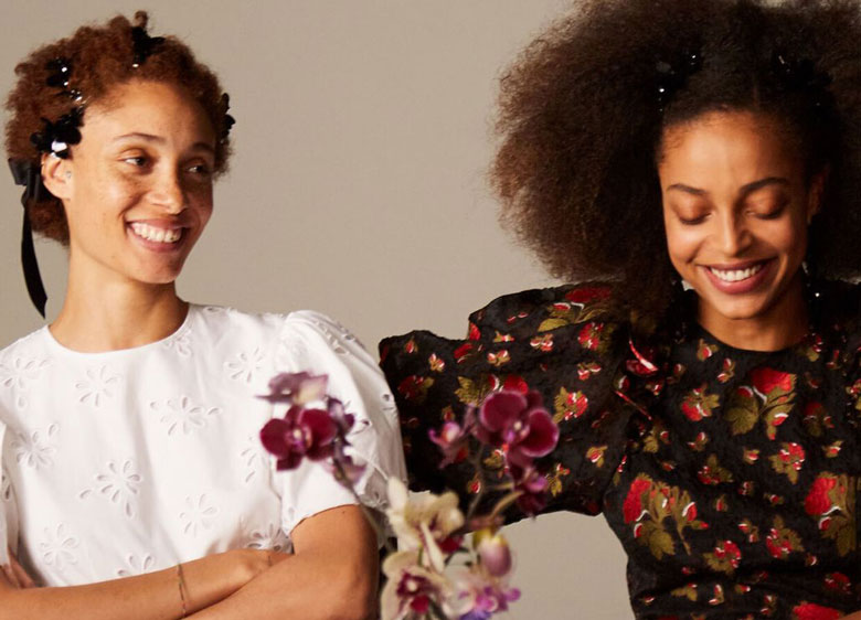 Simone Rocha x H&M looks 2 and 3