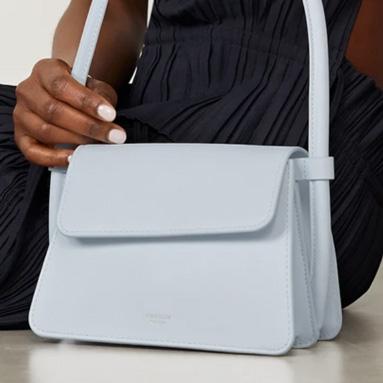 Oroton Light Blue Leather Handbag