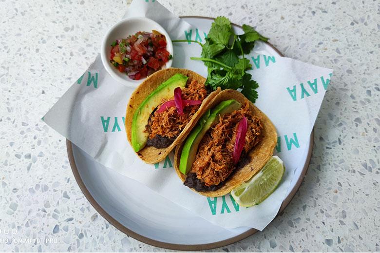 Tacos at Maya Restaurant